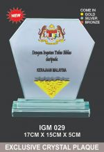IGM 029 CRYSTAL PLAQUE