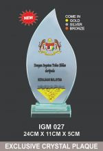 IGM 027 CRYSTAL PLAQUE
