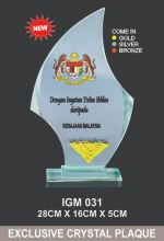 IGM 031 CRYSTAL PLAQUE