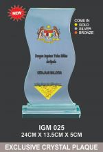IGM 025 CRYSTAL PLAQUE