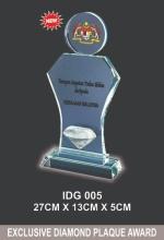 IDG 005 CRYSTAL PLAQUE