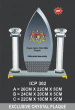 ICP 302 EXCLUSIVE CRYSTAL PLAQUE