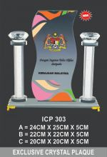 ICP 303 EXCLUSIVE CRYSTAL PLAQUE