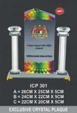 ICP 301 EXCLUSIVE CRYSTAL PLAQUE