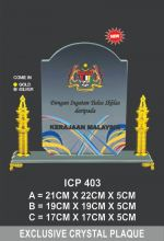 ICP 403 EXCLUSIVE CRYSTAL PLAQUE