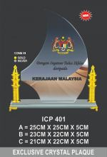 ICP 401 EXCLUSIVE CRYSTAL PLAQUE
