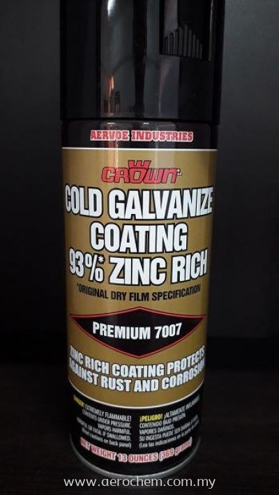 CROWN 7007 Cold Galvanize Coating 93% Zinc Rich