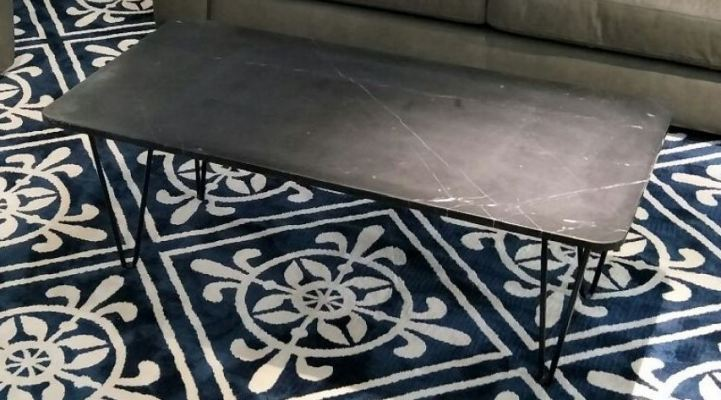 Marble Coffee Table - Black Marquina Marble