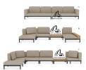 LISSE MODULAR SOFA MODULAR SOFA Outdoor Furniture Home Furniture
