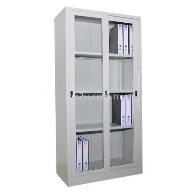 Full Height Glass Sliding Cupboard