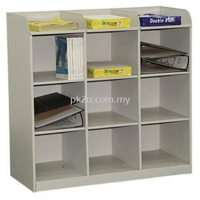 G1-MPH-2-15 - 9 PIGEON HOLE SIDE TABLE 15 INCHES DEPTH