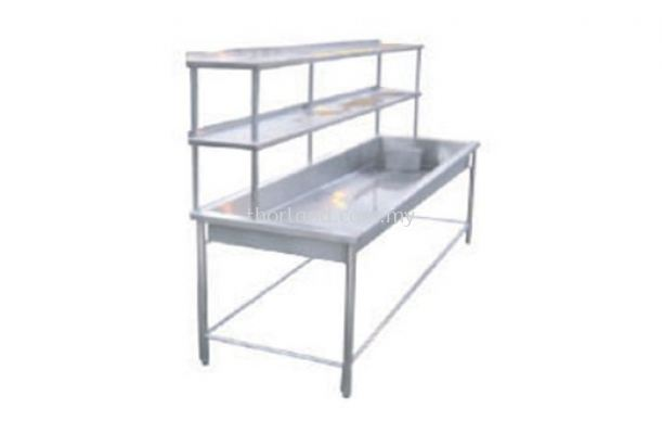 (C23) Big Bowl Sink C/W 2 Tier Overshelf