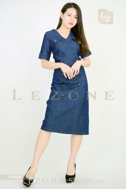 739926 DENIM MIDI DRESS【30% 40% 50%】