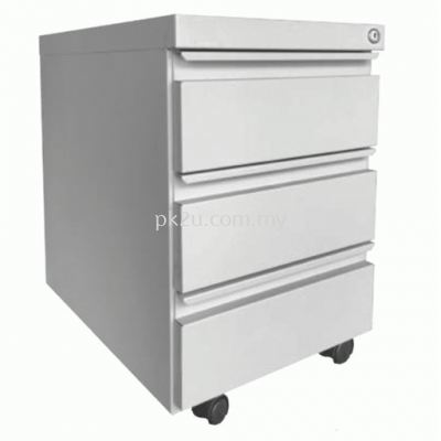 Steel Mobile 3 Drawers Pedestal