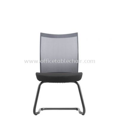 MESH II EXECUTIVE VISITOR BACK FABRIC CHAIR WITHOUT ARMREST C/W EPOXY BLACK CANTILEVER BASE MH-5N