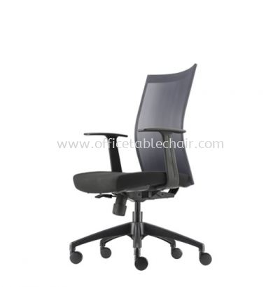 MESH II EXECUTIVE MEDIUM BACK CHAIR C/W ROCKET NYLON BASE MH-2N