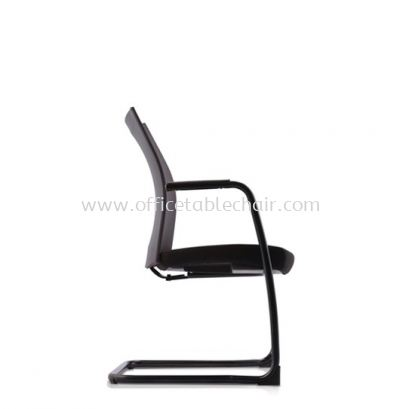 MESH II EXECUTIVE VISITOR LEATHER CHAIR C/W EPOXY BLACK CANTILEVER BASE MH-4N