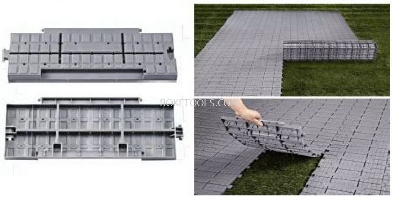 Portable plastic floor