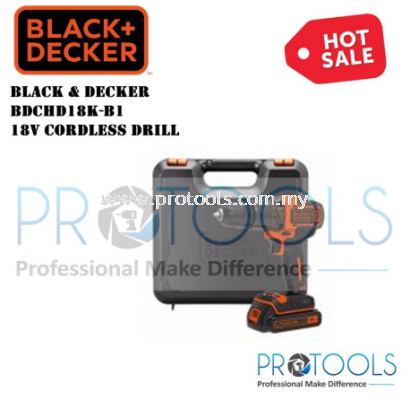 BDCHD18K-B1 BLACK AND DECKER 18V CORDLESS DRILL