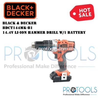 BDCT144MK-B1 BLACK & DECKER 14.4V LI-ION HAMMER DRILL w/1 BATTERY