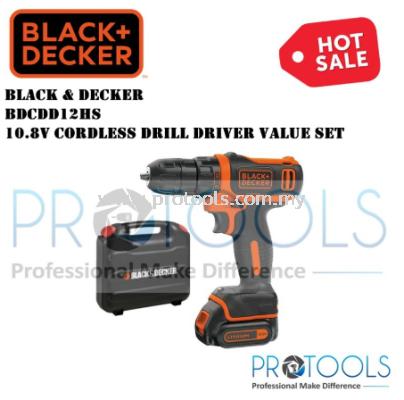 BDCDD12HS 10.8V CORDLESS DRILL DRIVER VALUE SET