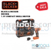 BDCD8K BLACK & DECKER 7.2V COMPACT DRILL DRIVER Black & Decker Drills & Drivers