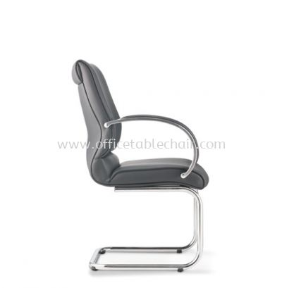 KLAIR EXECUTIVE VISITOR LEATHER CHAIR WITH CHROME CANTILEVER BASE KL-4L