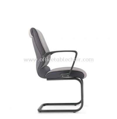 KLAIR EXECUTIVE VISITOR FABRIC CHAIR WITH EPOXY BLACK CANTILEVER BASE KL-4F
