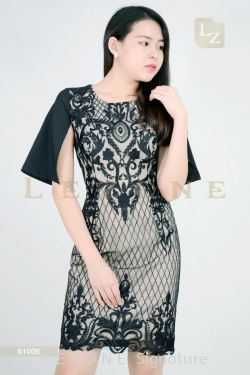 81006 LACE OVERLAY DRESS【BUY 2 FREE 3】