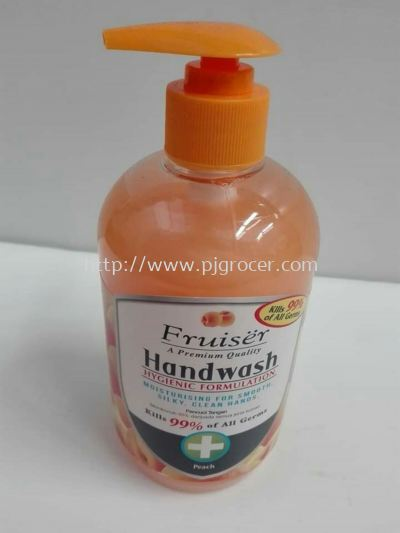 Fruitsher Handwash Peach 500ml