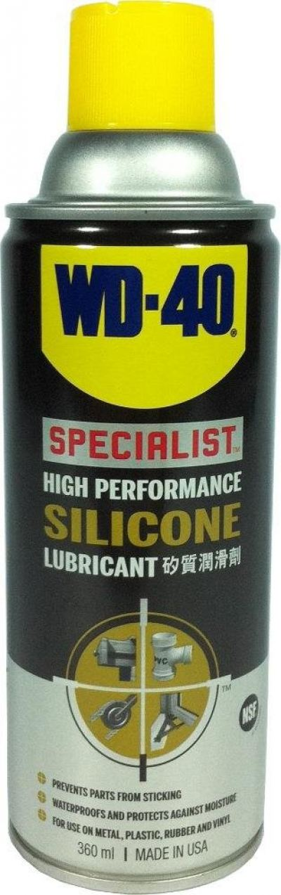 WD40 Specialist High Performance Silicone Lubricant 360ml.