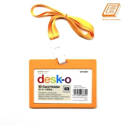 Unicorn - Orange ID card Holder + Lanyard  Set - UCH-8611