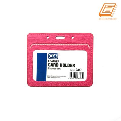 CBE - Pink Leather Card Holder 3317