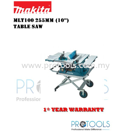 """MAKITA TABLE SAW MLT100 25MM (10"""") COME WITH WTS 03"""