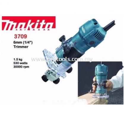 MAKITA 3709 6mm (1/4��) �C Trimmer