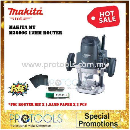 "Makita M3600G 1/2"" Router 1650W 12 Months Warranty"