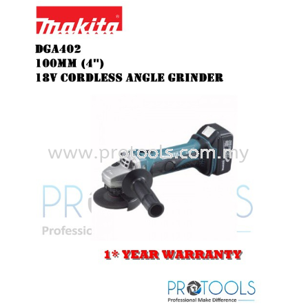MAKITA CORDLESS 18V ANGLE GRINDER DGA402 - SOLO UNIT( BODY ONLY)
