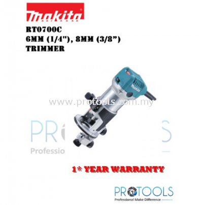 MAKITA RT0700X2 (WITH GUILD) 6mm (1/4��), 8mm (3/8��) �C Trimmer - 1 YEAR WARRANTY