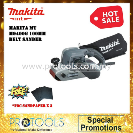 "MAKITA MT BELT SANDER M9400G 100MM (4""'') EXTRA SANDING BELT"