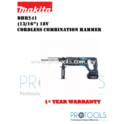 "MAKITA DHR241Z 13/16"" (20MM) CORDLESS COMBINATION HAMMER (LXT SERIES)NO BATTERY NO CHARGER"