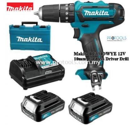 Makita DF331DWAE 12V 10mm Cordless Driver Drill 1 CHARGER + 2 PCS 2.0AH BATTERY