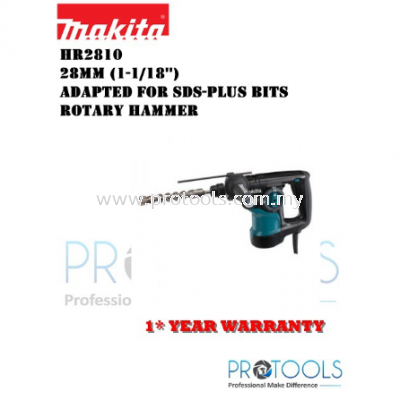 MAKITA HR2810 28mm (1-1/18��) SDS PLUS ROTARY HAMMER - 1 YEAR WARRANTY