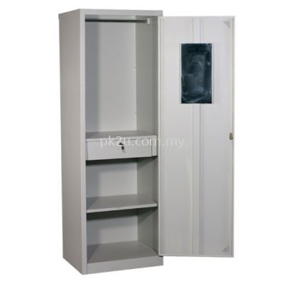 Single Swing Door Full Height Wardrobe