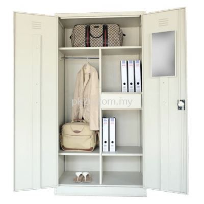 Double Swing Door Full Height Wardrobe