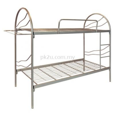 Double Decker Metal Bed Frame With Cloth Hanger