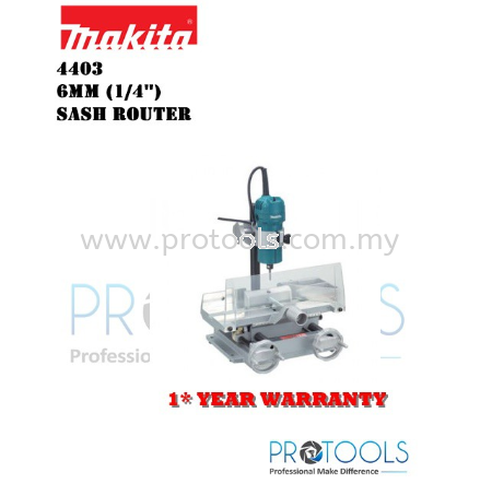 MAKITA 4403 6mm (1/4″) �C Sash Router - 1 YEAR WARRANTY