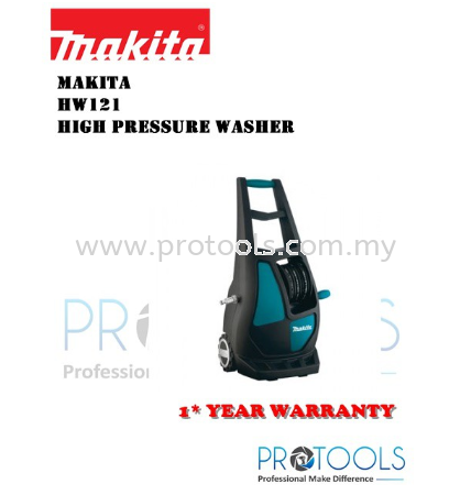 Makita 130 bar High Pressure Washer �C HW121 Waterjet 1800W