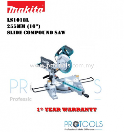 MAKITA LS1018L 260MM ENTRY LEVEL SLIDE COMPOUND MITRE SAW - 1 YEAR WARRANTY