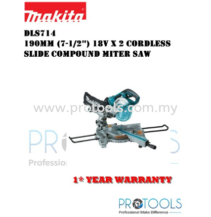 "MAKITA DLS714PM2 (7-1/2"") CORDLESS BRUSHLESS SLIDE COMPOUND MITER SAW (LXT SERIES)"