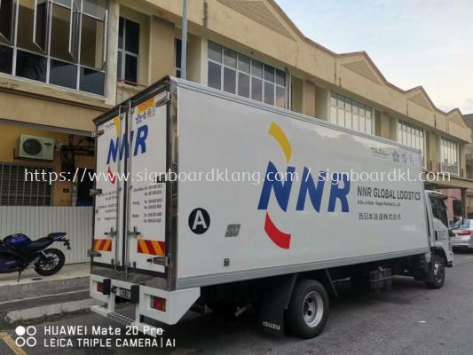 NNR global logistics truck lorry inkjet uv sticker full warping at klang